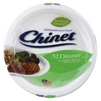 Chinet Classic White Dinner Plates 32 ct