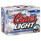 Coors Light 12 pk cans