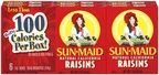 Raisins Sun-Maid 100 calorie boxes 6 pk