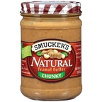 Smuckers Natural Chunky Peanut Butter 16 oz